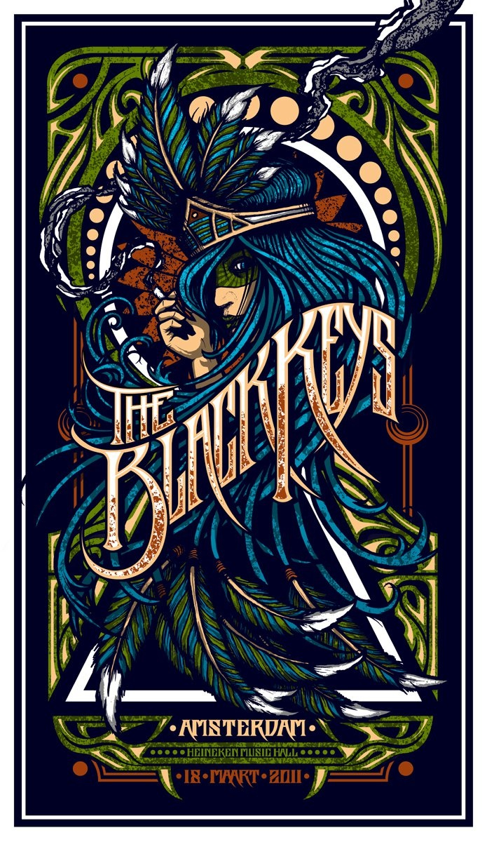 The Black Keys - Awesome show poster