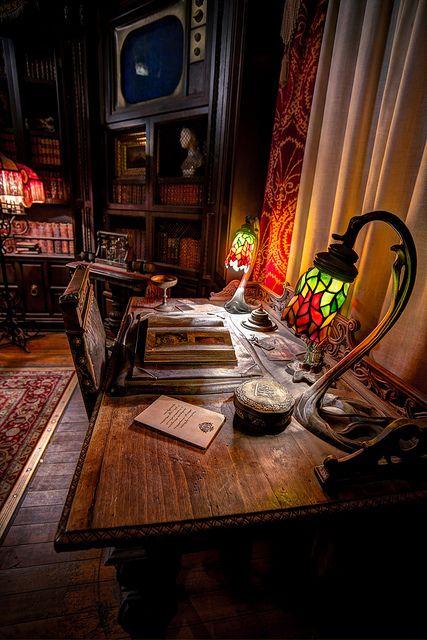 Hollywood Studios: Tower of Terror: Library by Hamilton!, via Flickr