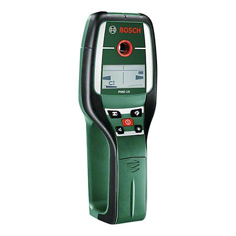 Bosch PMD 10 Digital Multi Detector will tell you whether the wall is hiding live cable, water/gas pipes etc.  @ $100 and I want one!