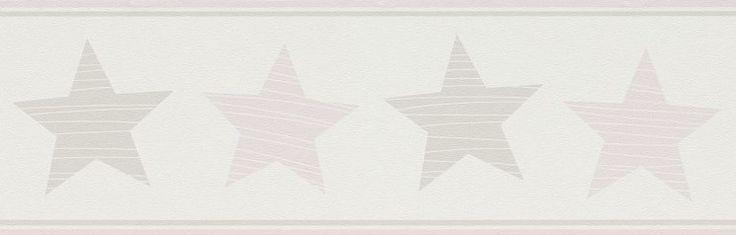 Tapet copii bordura stele roz 245707 Rasch