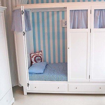 Kojenbett | Spielbett | Kinderbett BOX weiß, mit Türen, Vorhängen & 2 Schubladen #ebayinspiriert #ebaykollektionen