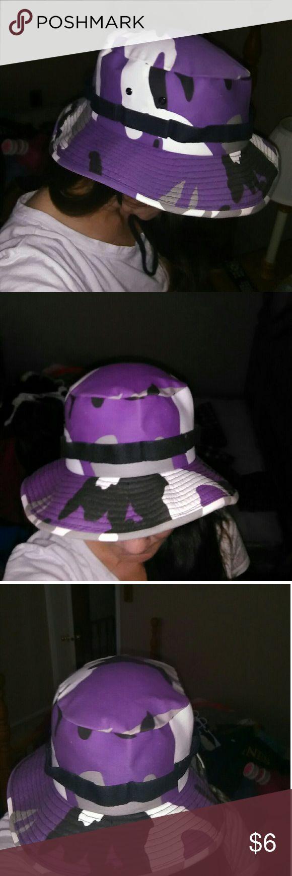 Camouflage bucket hat Women's small purple camo bucket hat. Accessories Hats