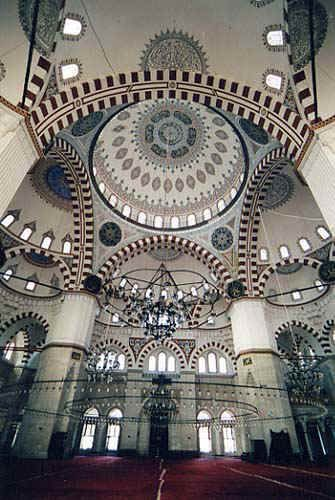 The Shehzade Mehmet (Prince Mohamed) Mosque - Istanbul 1548 INTERIOR  ARCHITECT SINAN