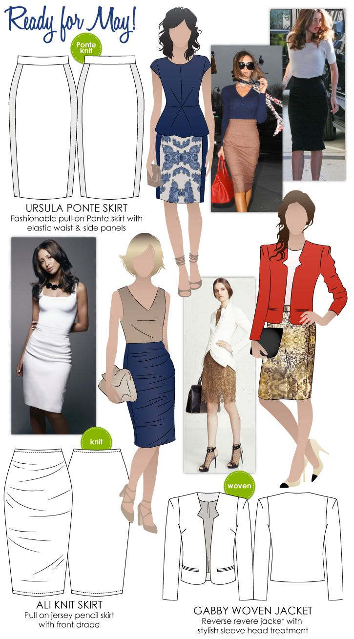 Fashionable sewing patterns for adults.