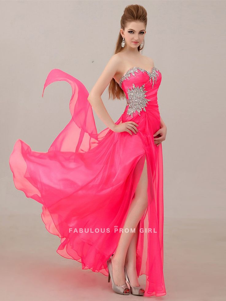 A-line+Sweetheart++Beading++Sleeveless+Floor-length+Chiffon+Prom+Dresses+/+Evening+Dresses+