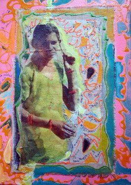 """Saatchi Online Artist Anna Corti; Collage, """"in india"""" #art"""