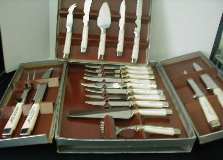 Sheffield Knives Stainless Steel English Blades 19 pcs Set Forever Sharp Serving
