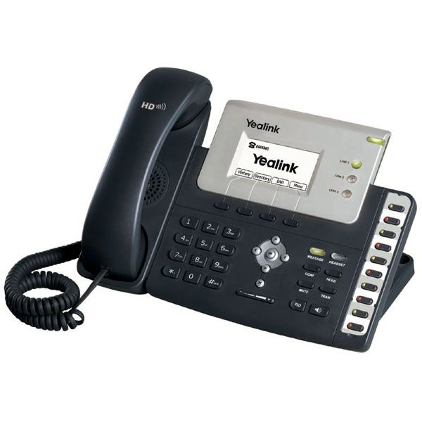 The Yealink SIP-T26P is an advanced IP phone designed for maximum functionality and efficiency in the everyday business environment. Equipped with the TI TITAN chipset, it offers high-definition voice quality through a TI voice engine, HD handset, HD speaker and HD codec (G.722).  Yealink - the Global TOP 3 SIP Phone Provider