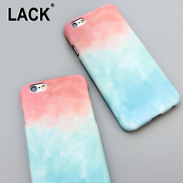 Fashion Simple Candy Color Gradient Cover For iphone 6 Case For iphone 6S 6 Plus 5 5S Luxury Colorful Had Phone Cases Capa Coque