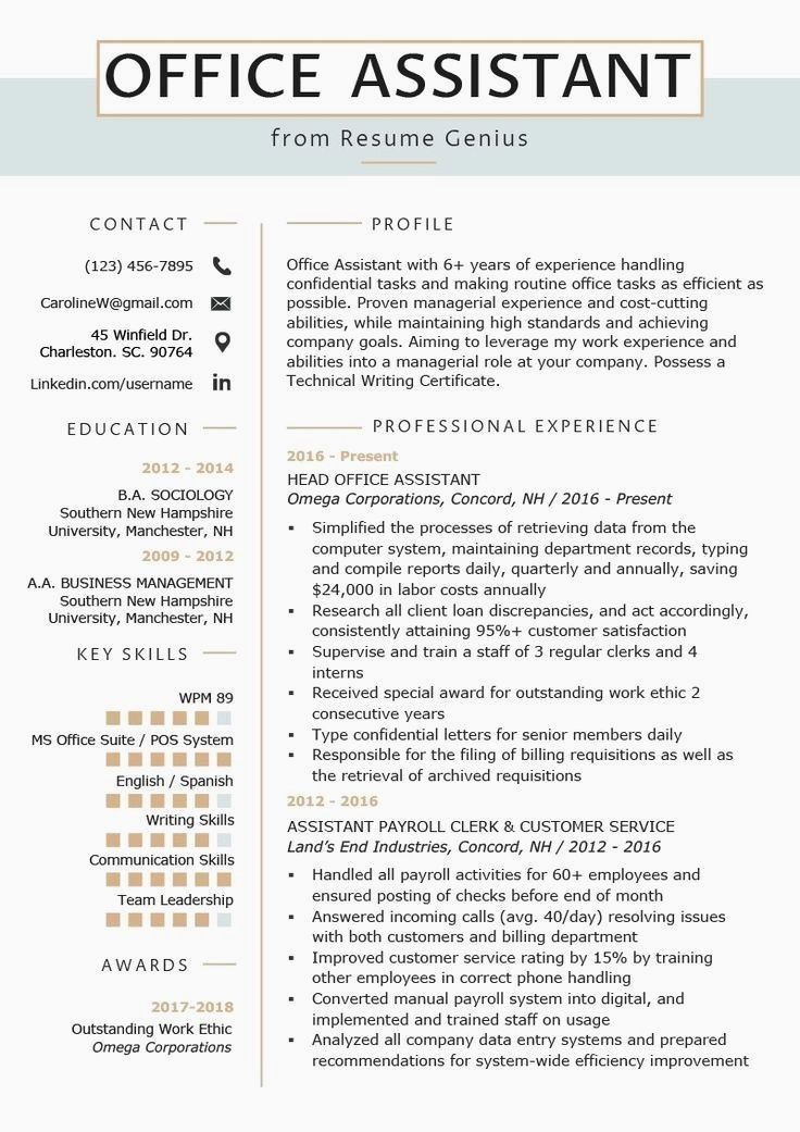Resume Examples Office Office Assistant Resume Example Writing