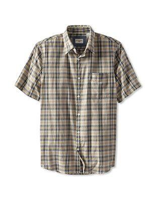 62% OFF Dockers Men's Woven Shirt (Cloud Cream)