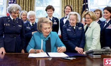 Behind The Fake Photo Of Hillary Signing 'Ejaculation Ban' Surrounded By Women | The Huffington Post