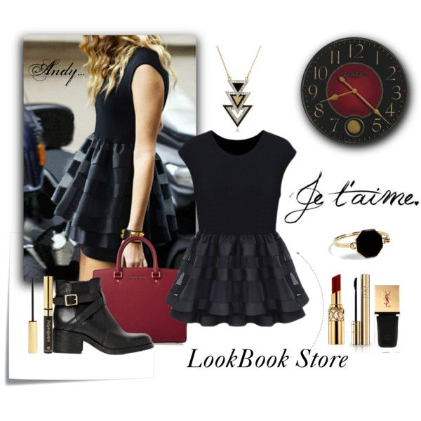 """""""Lookbook store :Double Layer Sleeveless Top Black"""" by andyts on Polyvore"""