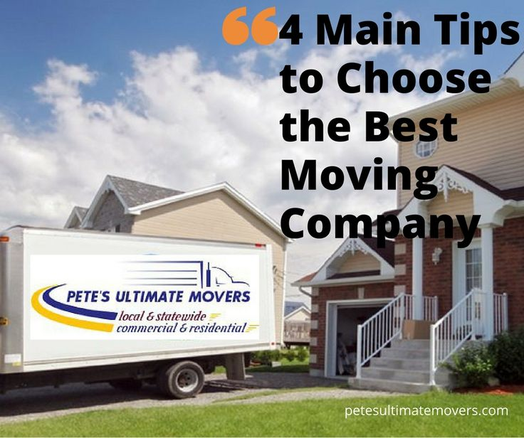 4 Main Tips to Choose the Best Moving Company http://petesultimatemovers.com/4-main-tips-to-choose-the-best-moving-company/  #movers #tampa #residentialmoverstampa #commercialmoverstampa #packerstampa #moversflorida #professionalmoversintampa