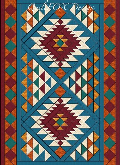 Southwest Style Throw 56'x 78' by QuiltPatterns on Etsy