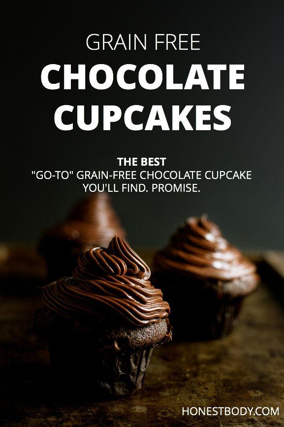 Grain-free Chocolate Cupcakes (GAPS, Primal, Grain-free, Gluten-free)--- coconut flour