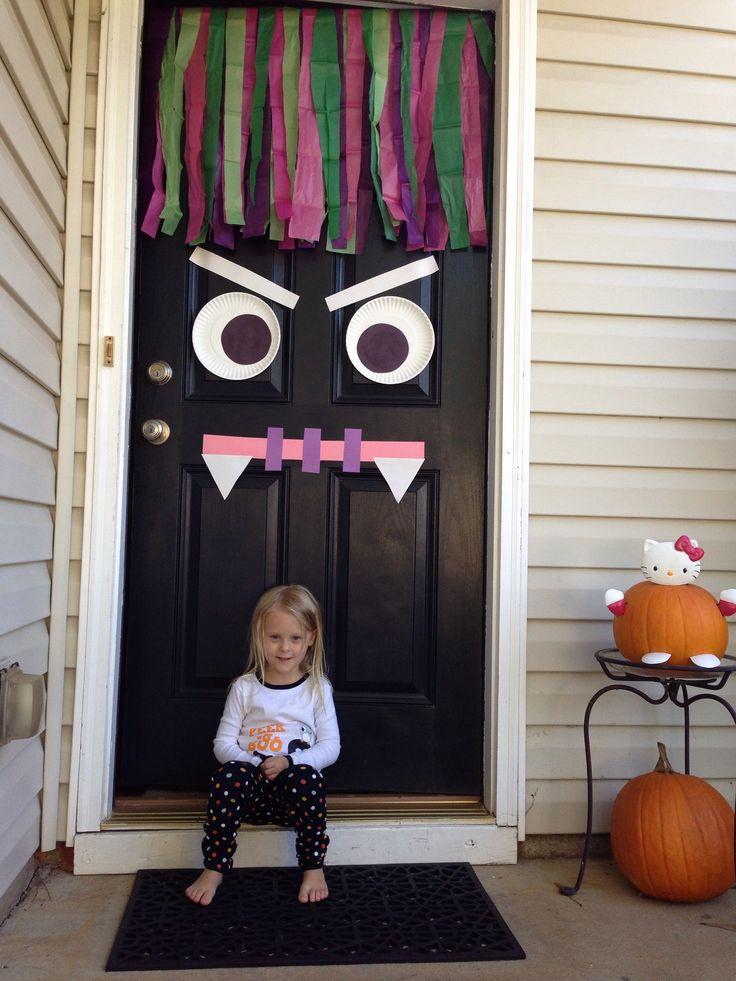 Halloween monster door decoration