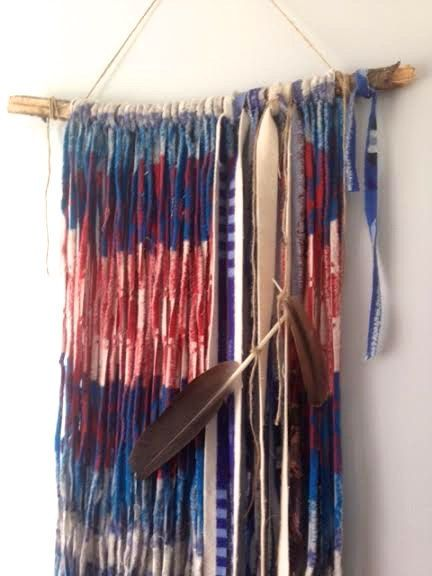 Recycled Pendleton Fabric Wall Hanging by KAYLABURKEDESIGN