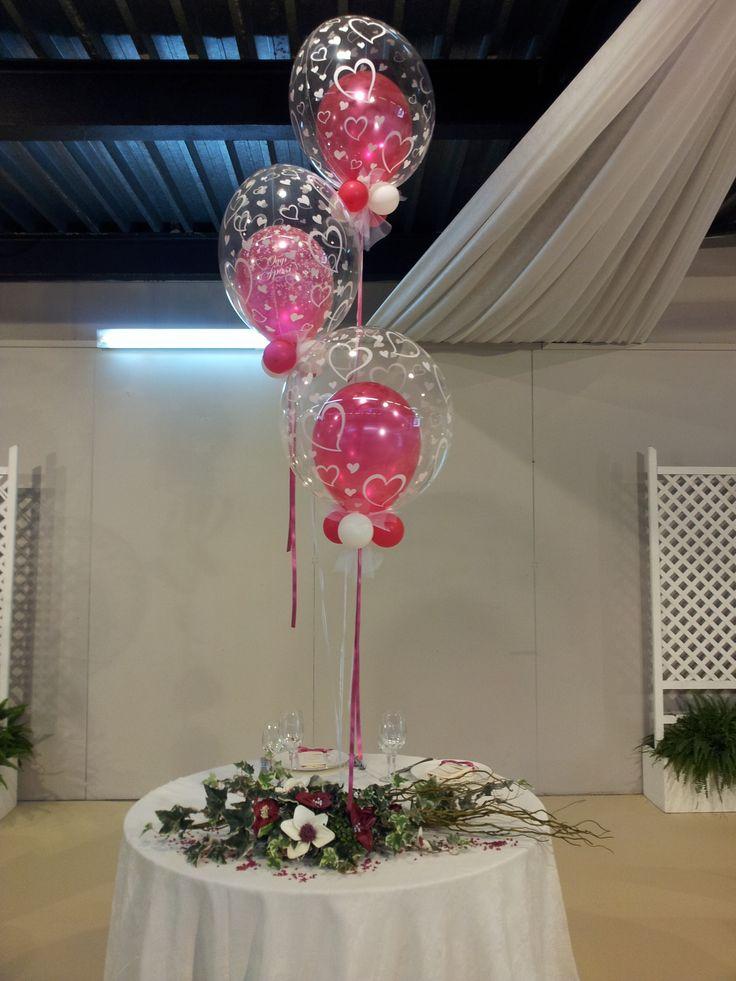 palloncini bubbles centrotavola sposi