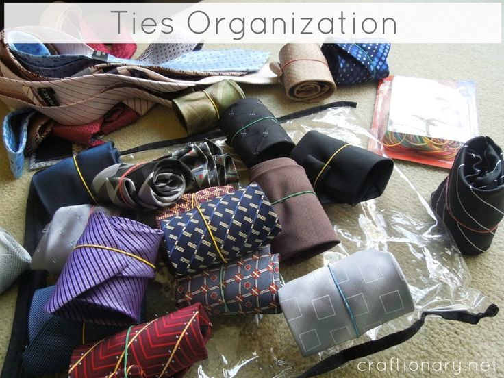 How to organize ties for him, could then store them in a stocking/sock organizor