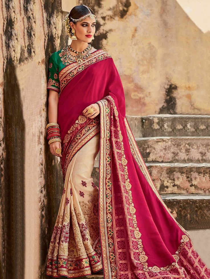 indian-wedding-saree-latest-designs-trends-collection-2017-2018-7