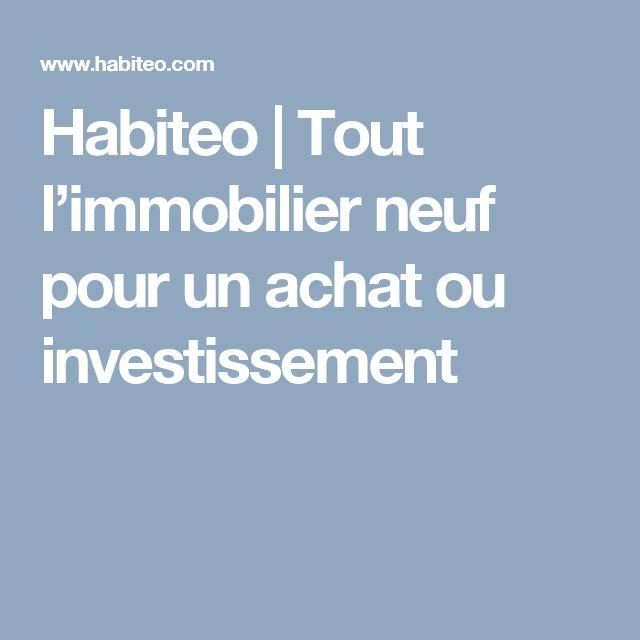 Habiteo | Tout l'immobilier neuf pour un achat ou investissement