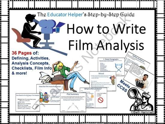 best teaching film images teaching english film analysis a complete guide for writing film analysis from educator helper on teachersnotebook