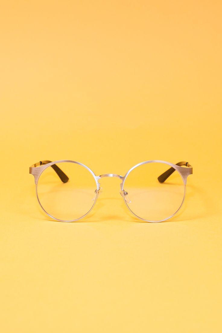 Fine metal geek glasses. Zero prescription.