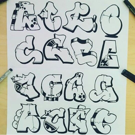 Ms de 25 ideas increbles sobre Graffitis letras en Pinterest