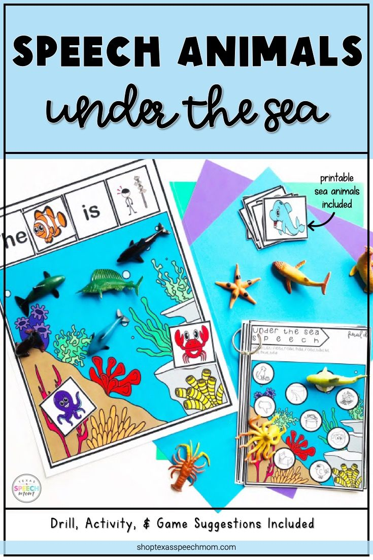 Under The Sea Animals Speech Therapy Articulation And Language Development Activiti Language Development Activities Development Activities Speech Therapy Games [ 1102 x 735 Pixel ]
