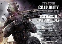 18 best call of duty birthday invitations images on pinterest call of duty video game birthday invitations filmwisefo Image collections