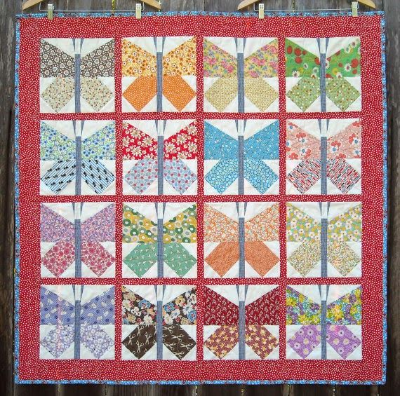 1000 Images About Butterfly Block Quilts On Pinterest