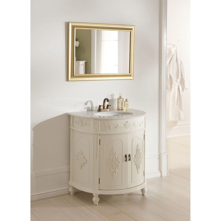 Antique french style vanity unit bathroom basin storage pinterest vanity units french for Antique bathroom vanity units