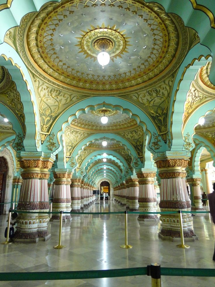 Interior Mysore Palace Located In The Southern State Karnataka Of India