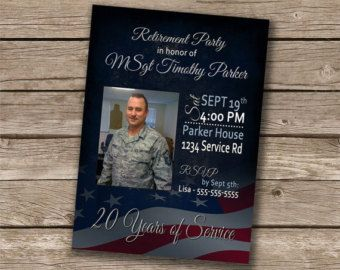 Military Retirement Party BBQ by AnnouncedCreations on Etsy