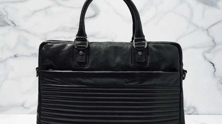 The Biker Leather Briefcase - Calibre AW15 http://www.calibre.com.au/shop/biker-leather-briefcase-p2200/black-pc1314