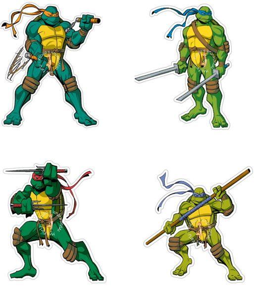 Decore você mesmo(a) a sua festa inspirada nos super heróis!  Toppers redondos Tartaruga ninja , (basta colar a haste) ou enfeite, colados em colheres ou forminhas.  Impresso no papel couche  ***OBSERVAÇÕES***  Preço se refere a folha A4 com 30 unidades  Pedido é feito por folha      [MEDIDAS] : ...