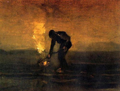 Vincent van Gogh, Peasant Burning Weeds, 1883                                                                                                                                                                                 More