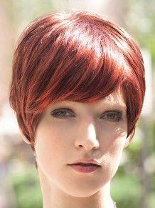 Alexa #wigs #pruiken #rood #Peruca #ReadytoWear  #kort #vlot #GiselaMayer