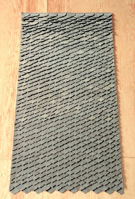 tapete escamas de sirena de fieltro de lana Marca: Dejate Querer