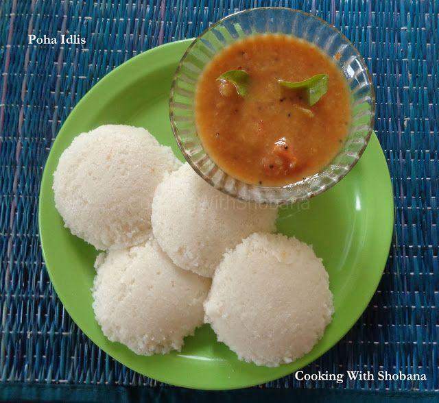 Cooking With Shobana : POHA IDLIS