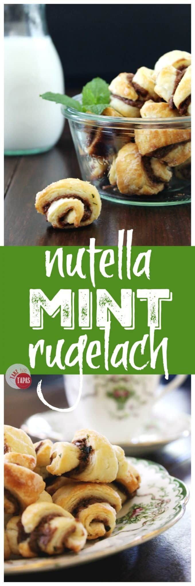 Nutella Mint Rugelach #ChristmasCookies #Cookies #Nutella | Take Two Tapas
