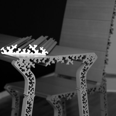 Frost by HwaSung Yoo of Mars.  extruded aluminum furniture, the joints are interesting