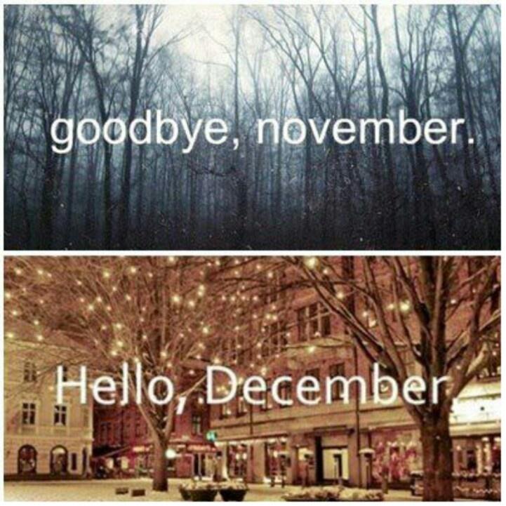 Goodbye November, Hello December  Winter Wonderland  Pinterest  November i...