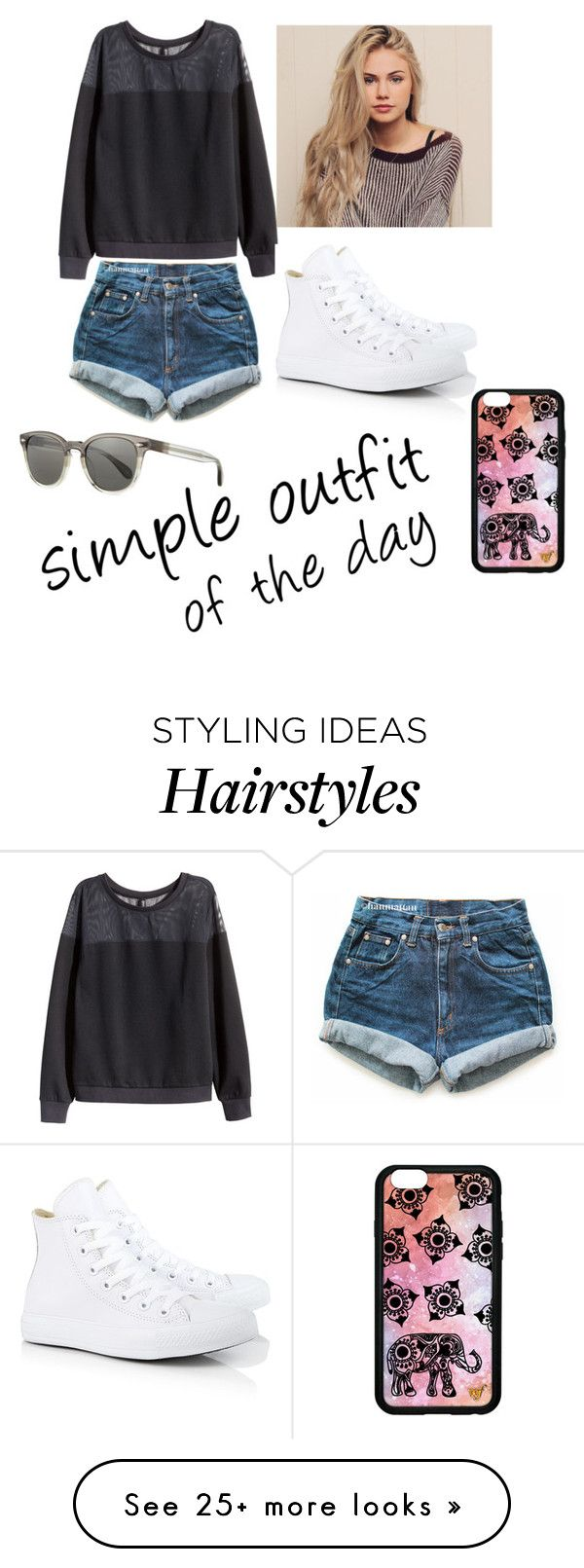 """Untitled #214"" by rileydance18 on Polyvore featuring mode, H&M, Levi's, Converse, Forever 21 en Oliver Peoples"