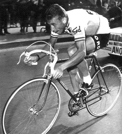 Jacques Anquetil (8 January 1934 – 18 November 1987) was a French road racing cyclist and the first cyclist to win the Tour de France five times, he won the Giro 2x and the Vuelta 1x. Grand Prix des Nations  9x and was an hour record holder