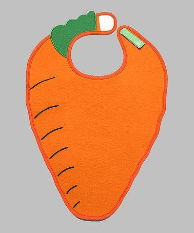 Love this Orange & Green Carrot Bib on #zulily! #zulilyfinds