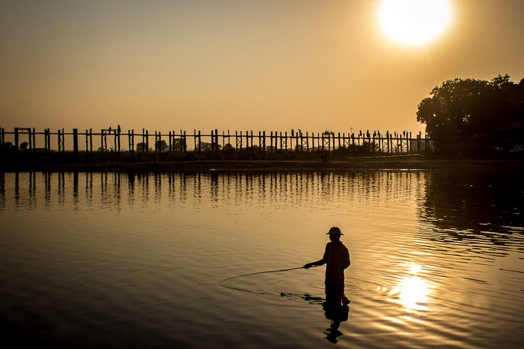 The U Bein Teak Bridge is more than a tourist attraction for sunset. The bridge near Mandalay is used everyday by the locals - and that's the best thing.