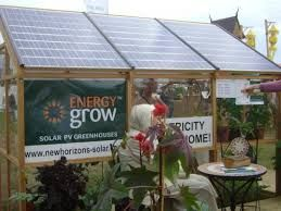 Image result for photos of greenhouses with solar panels