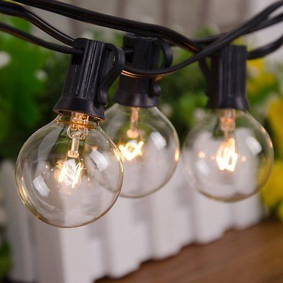 Outdoor Weatherproof Vintage String Lights Patio Lights 25 Feet With 25  Bulbs